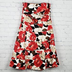 White House Black Market Strapless Floral Sundress